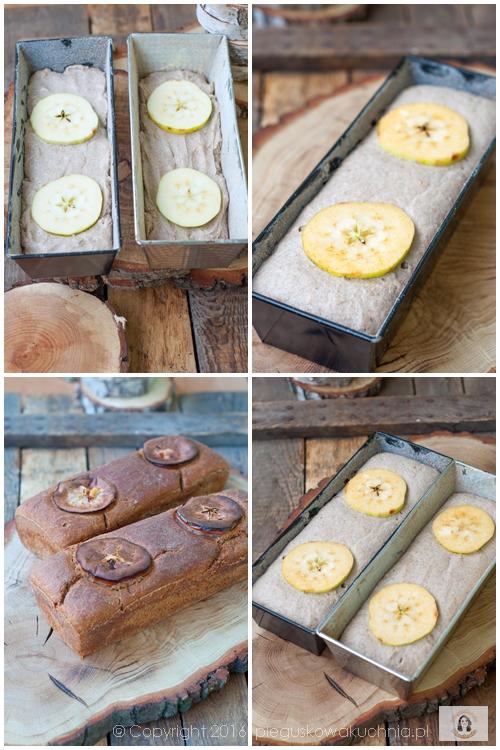 chleb z tartym jabłkiem